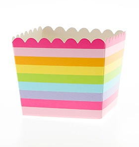 Rainbow Scallop Favour Box