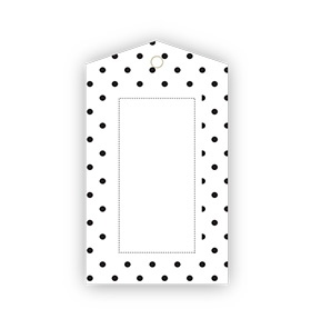 Black & White Polkadot Gift Tags