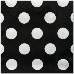 Black Polka Dot Lunch Napkins