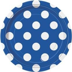 Blue Polka Dot Lunch Plates
