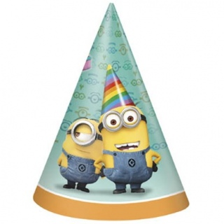 Despicable Me Party Hats - 8 Pack