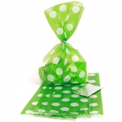 Lime Green Polka Dot Cello Bags